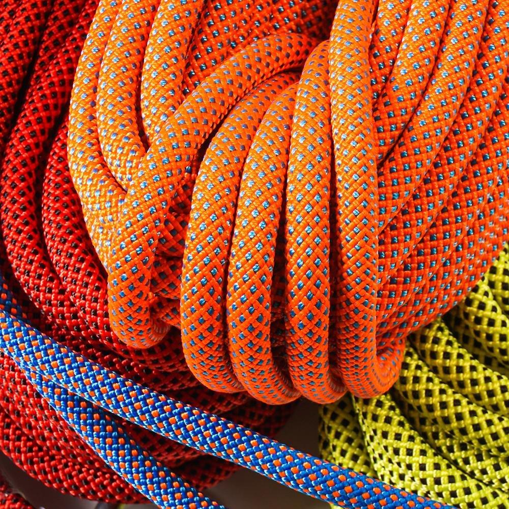 HCC& Draussen Verschleißfest Klettern Seil Hohe Hohe Hohe Festigkeit Kabel Sicherheit Gestreift Schnalle Angepasst B07BNCNL32 Einfachseile Die Farbe ist sehr auffällig f4e2cd