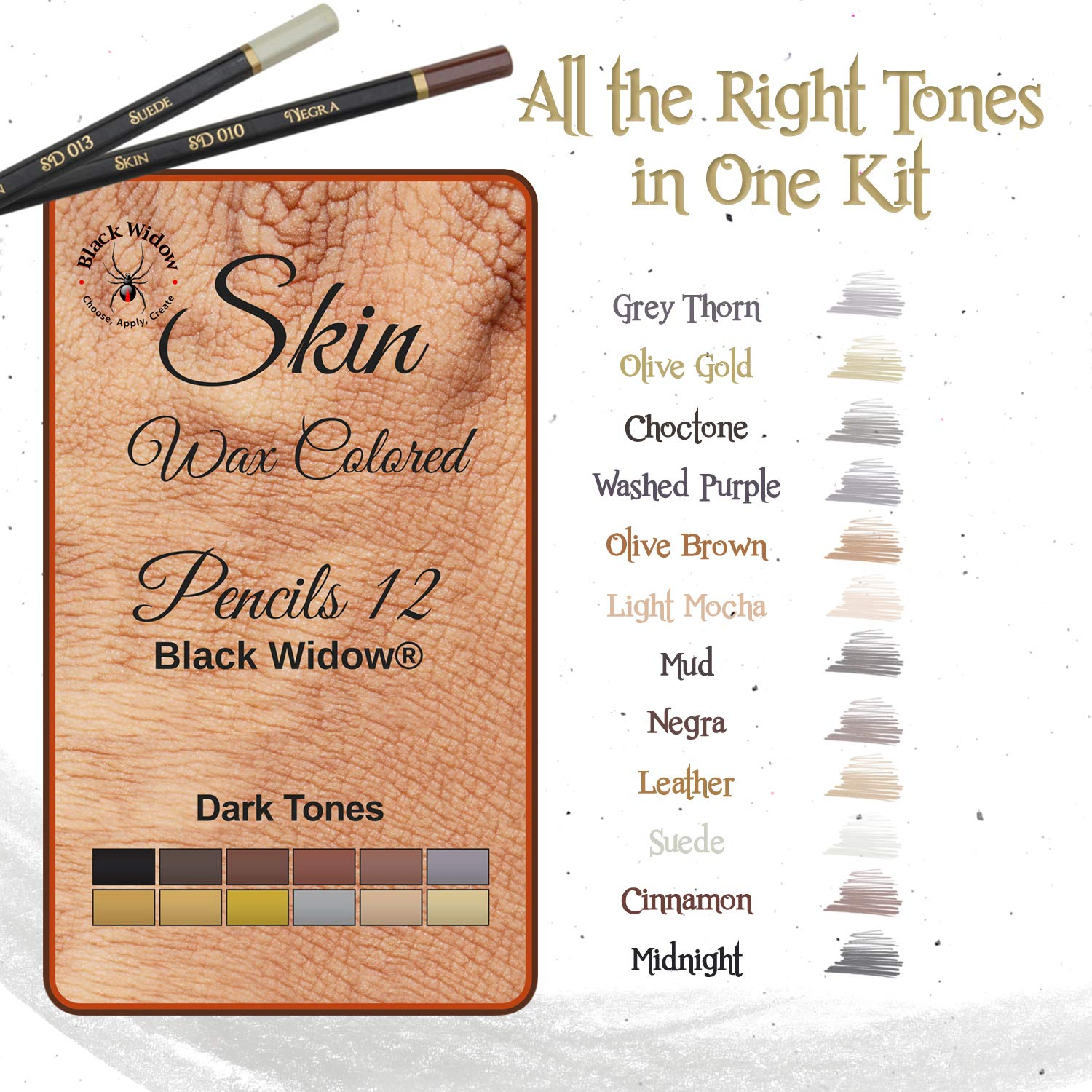 Dark Skin Tone Color Pencils for Portrait Set - Colored Pencils for Adults and Skintone Artist Pencils by Medihealth 1 (Image #5)