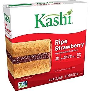 Kashi, Soft Baked Breakfast Bars, Ripe Strawberry, 7.2oz Box (6 Count)
