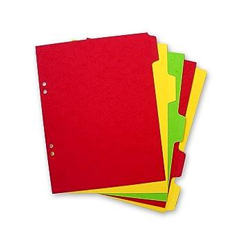 Elba - Separador para carpetas (A5, 5 partes): Amazon.es: Oficina y papelería