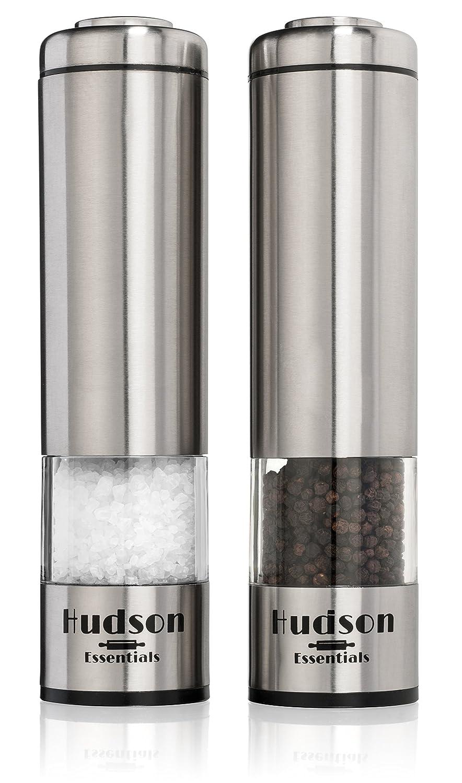 Amazoncom Hudson Electric Salt and Pepper Grinder Set Ceramic