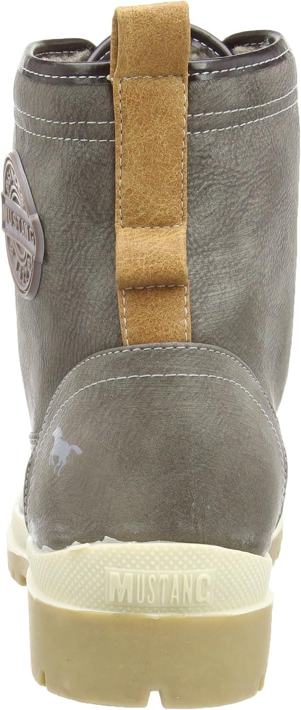 Mustang Schnür Booty botas de caño bajo de material
