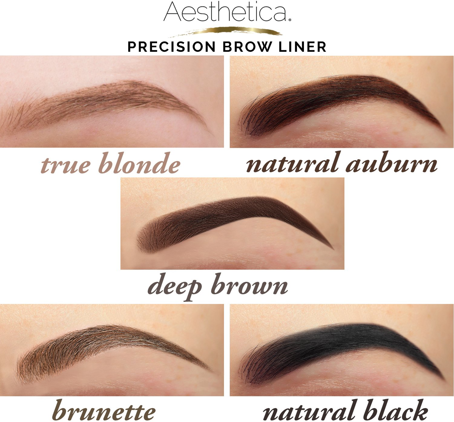 Amazon.com : Aesthetica Precision Brow Liner - Double Ended ...