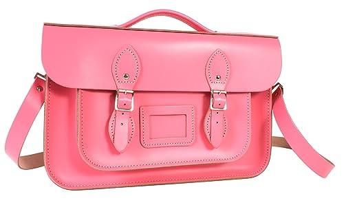 Oxbridge Satchels - Bolso estilo cartera de Piel para mujer Rosa rosa pastel