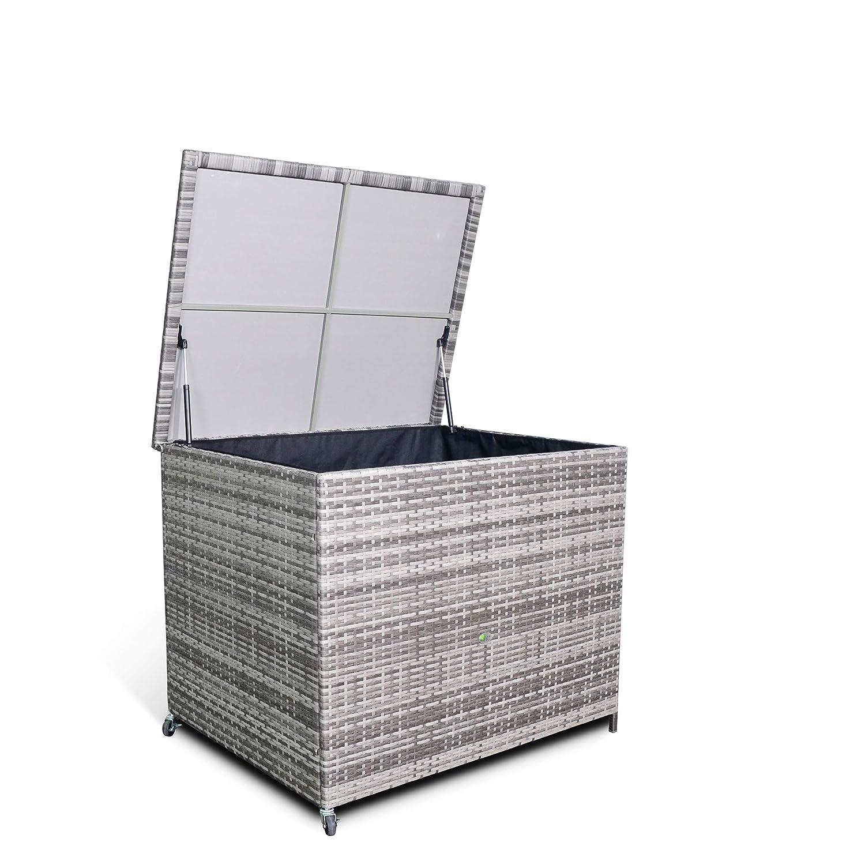 Club Rattan Garden Furniture Cushion Storage Box
