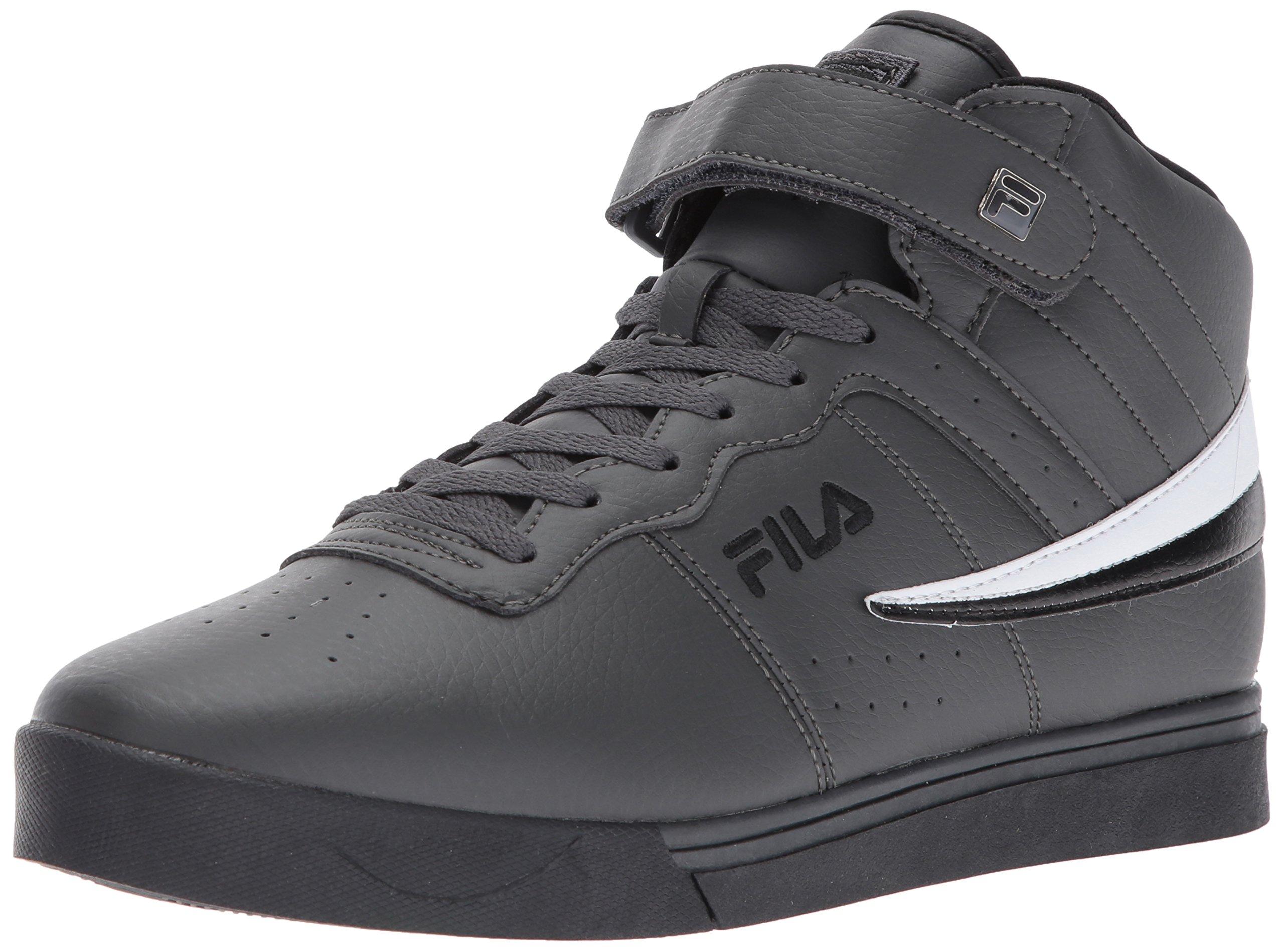 Fila Men's Vulc 13 Mid Plus 2 Walking Shoe, Dark Shadow/Black/White, 10 D US by Fila