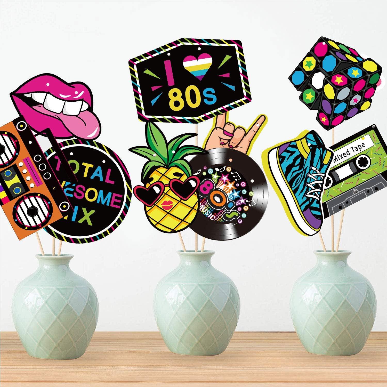 Banni/ère des Ann/ées 80 D/écoration de F/ête des Ann/ées 1980 Retour aux Ann/ées 80 Signe de F/ête D/écoupes pour les Arrangeurs de Sc/ène des Ann/ées 80 Toile de Fond Hip Hop Accessoires de Cabin
