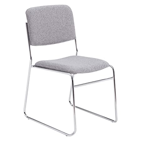 National Public Seating 8600 Series Fabric Padded Signature Stack Chair, Classic Grey