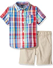 TOMMY HILFIGER Boys' Toddler 2 Pieces Shirt Shorts Set