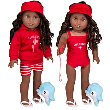 e4af65b2d8 dress along dolly Summer Lifeguard Outfit for American Girl and 18 quot   Dolls  7 pcs