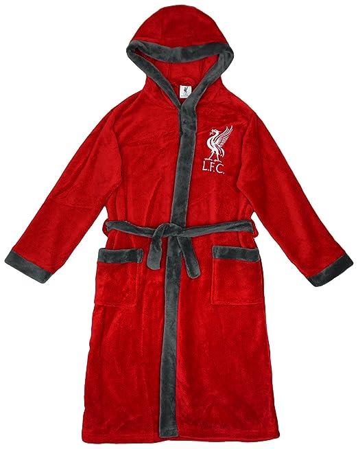 Niños Oficial Liverpool FC LFC Sudadera De Lana Con Capucha Bata tallas desde 3 a 13