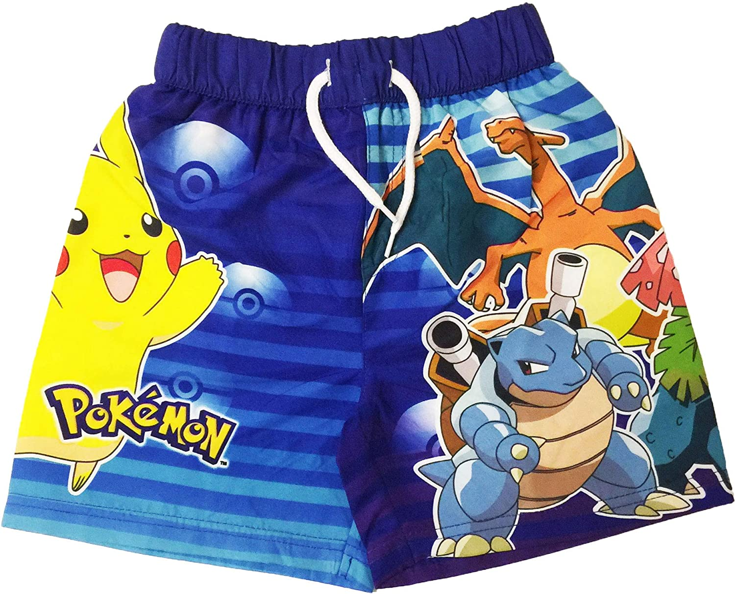 Licensed Boys Pokemon Swimming Shorts Ages 3 to 10 Years