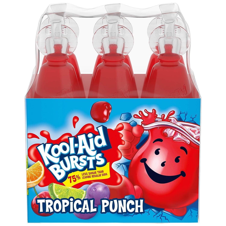 Kool-Aid Bursts Tropical Punch Soft Drink, 6.75 Fl Oz (pack of 6)