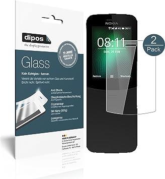 dipos I 2X Protector de Pantalla Compatible con Nokia 8110 4G ...