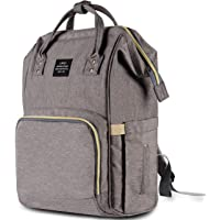 HaloVa Multi-Function Waterproof Travel Diaper Backpack (Gray)