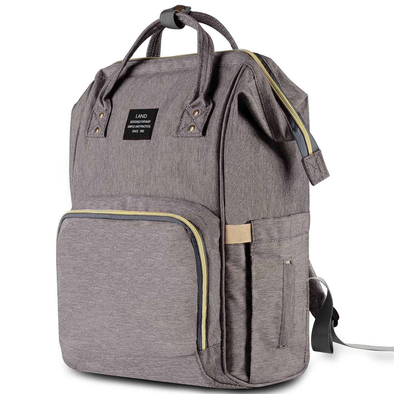 HaloVa Diaper Bag Multi-Function Waterproof Travel Backpack Nappy Bags for Baby Care, Large Capacity, Stylish and Durable, Gray by HaloVa