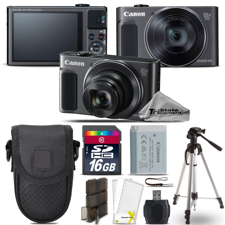 Canon 16 PowerShot sx620 HSデジタルカメラ(ブラック) + + 16 GBクラス10メモリカード+ Point B072C7H1PF & Shootカメラケース+カードリーダー+三脚+スクリーンプロテクター+メモリカードケース – インターナショナルバージョン B072C7H1PF, マツエシ:cb4e9461 --- ijpba.info
