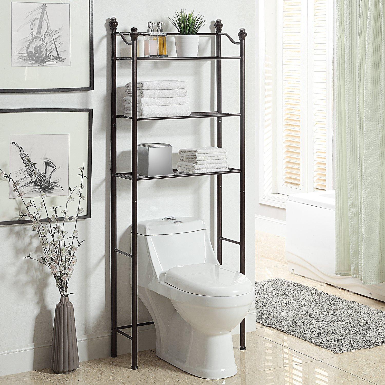 Amazon.com: Organize It All 3 Tier Over the Toilet Bathroom Storage ...