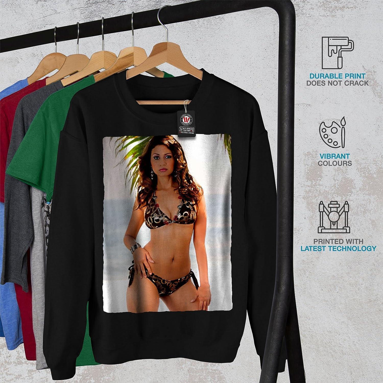 wellcoda Bikini Adult Sensual Mens Sweatshirt Woman Casual Jumper