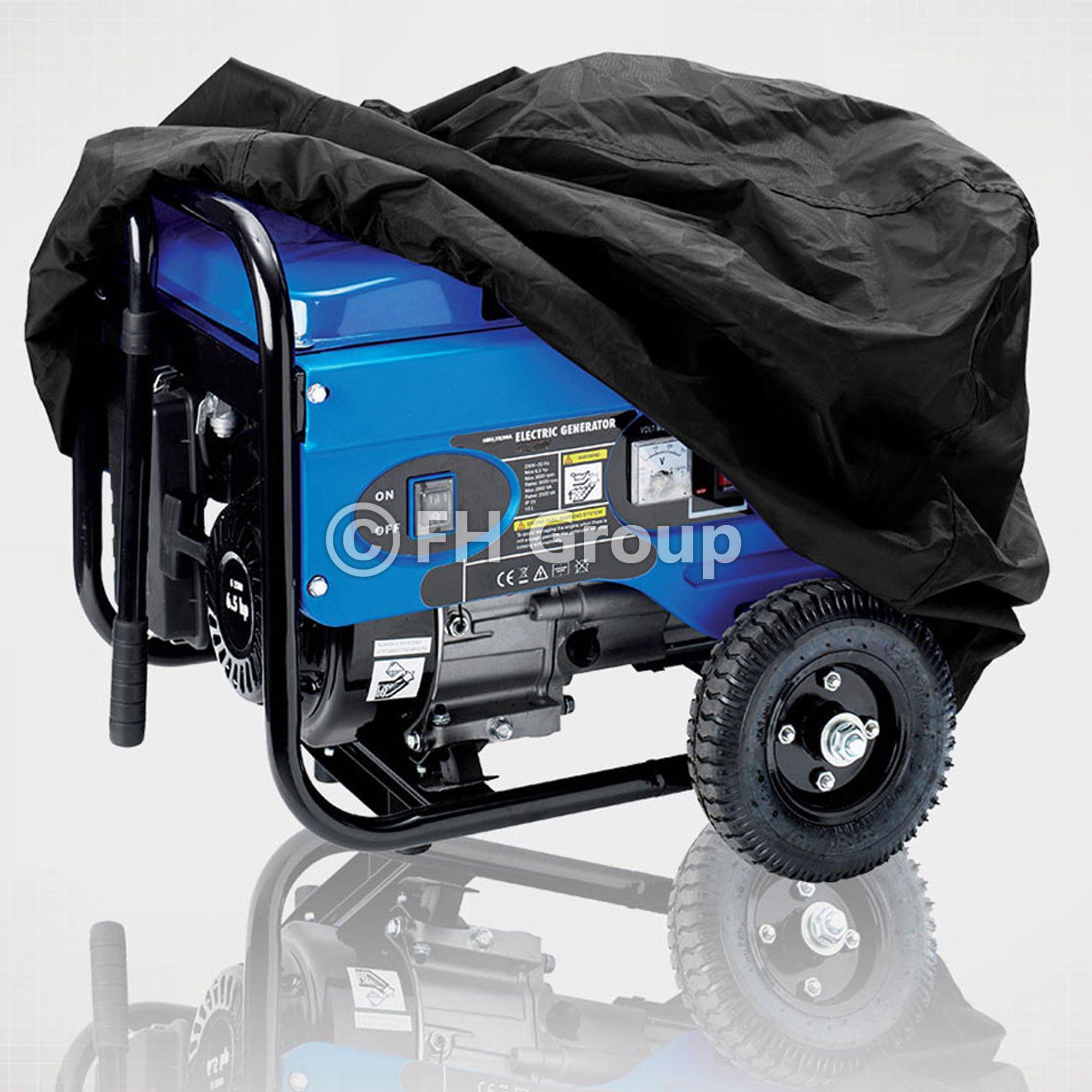 FH GROUP FH-EC707BLACK-XL FH GROUP Universal Weatherproof Heavy Duty Generator Cover, Black Color XL 37'' x 25'' x 27.5''