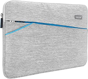 "Lacdo 15.6 Inch Laptop Sleeve Case for 15.6"" Acer Aspire 5, E 15, Flagship/ASUS VivoBook 15 TUF FX505 / Dell Inspiron 15 / Lenovo Ideapad/HP Pavilion, EliteBook Water Repellent Notebook Bag, Gray"