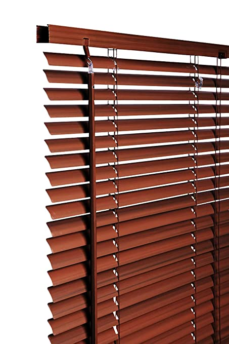 New 105cm Walnut Wood Effect Pvc Venetian Blinds Available In 10