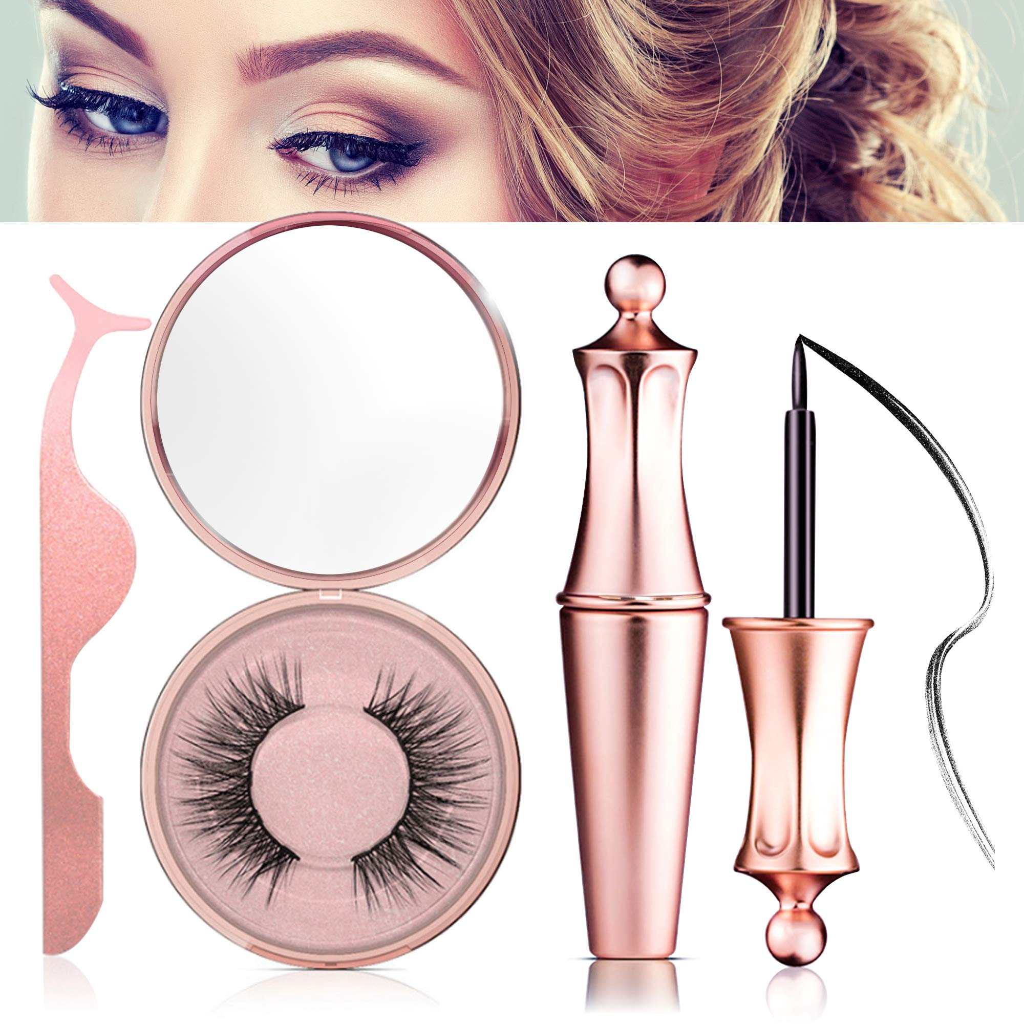 Magnetic Eyeliner Kit, Magnetic Eyeliner With Magnetic Eyelashes, Magnetic Lashliner For Use with Magnetic False Lashes by Cutie Academy
