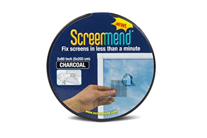 Window screen repair kit 2 x 80 roll charcoal amazon window screen repair kit 2quot x 80quot solutioingenieria Gallery