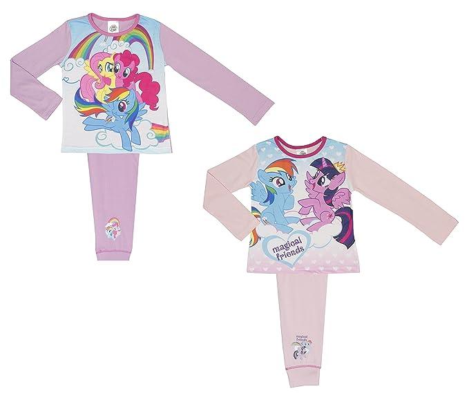 5fa05f212 2 Pack My Little Pony Girls Pyjamas - 4-10 Years  Amazon.co.uk  Clothing