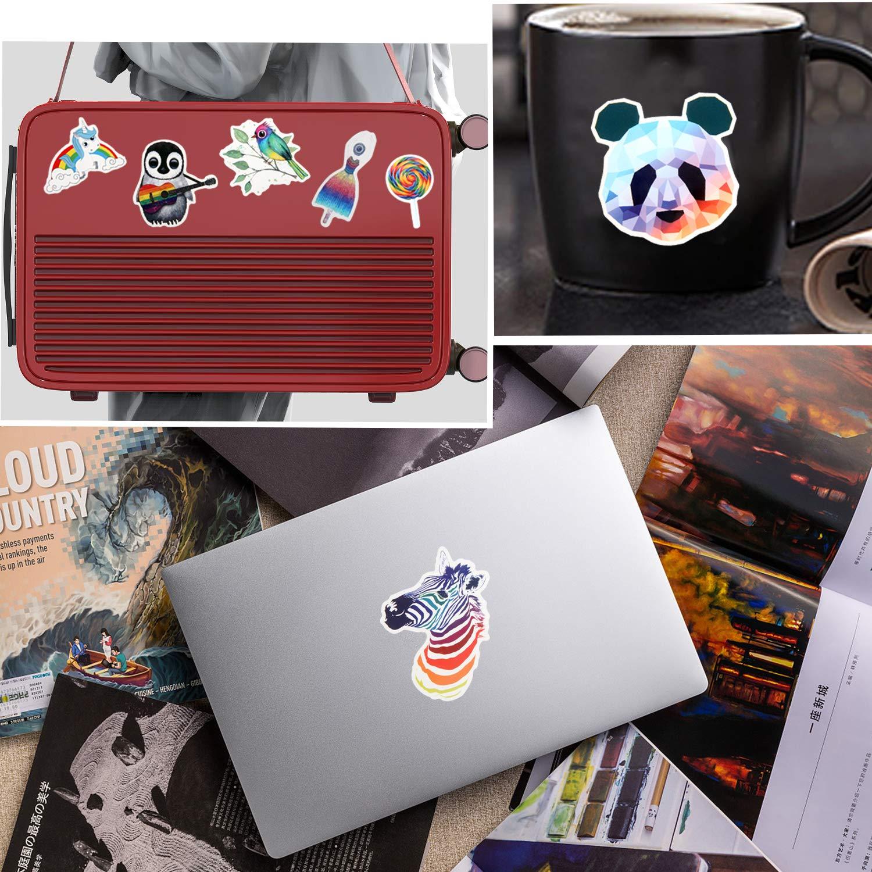 SANNIX 105 Pcs Waterproof Stickers for Water Bottles Cute Laptop Stickers for Teens Girls
