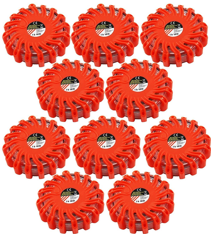 Warnblinkleuchte Warnlicht Notfall-Leuchte 3er Set My-goodbuy24 LED Warnleuchte mit Magnet /& Haken