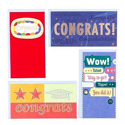 Amazon hallmark graduation money holder or gift card holder hallmark graduation money holder or gift card holder greeting card assortment 4 cards4 m4hsunfo
