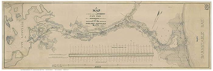 Amazon.com: Cape Cod Canal 1825 Map U.S. Corps. of Engineers ...