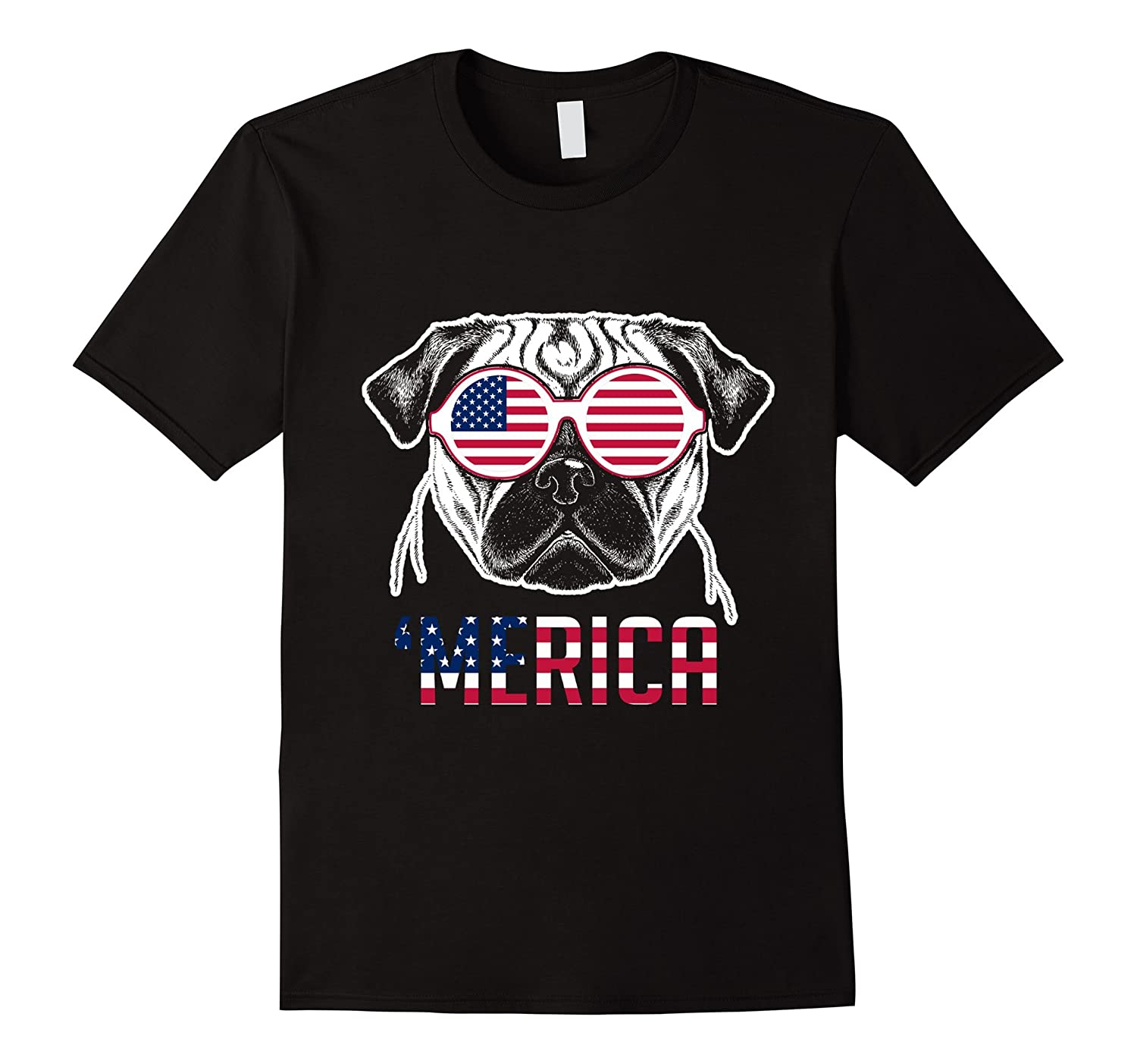 'Merica Cool Dog U.S. Flag Patriotic Shades Shirt-TH