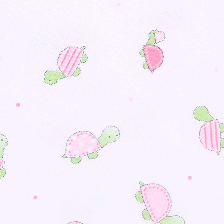 Magnolia Baby Baby Girl Tiny Turtles Printed Dress Set Pink