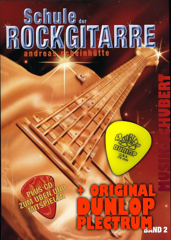 Escuela el Guitarra rock Banda 2 CD) Incl. Pick de guitarra y ...