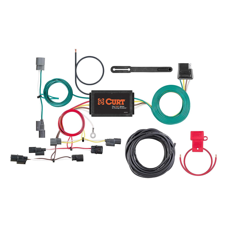 curt 56396 vehicle side custom 4 pin trailer wiring harness for select honda civic  honda civic trailer wiring harness #5