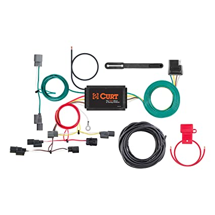 curt manufacturing 56396 vehicle-side custom 4-pin trailer wiring harness  for select honda civic, wiring - amazon canada