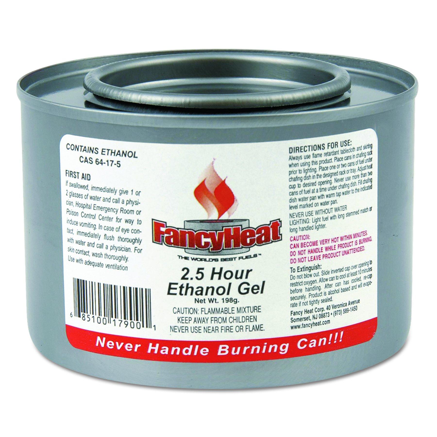 FancyHeat F900 Ethanol Gel Chafing Fuel Can, 2-1/2 Hour Burn, 7 oz (Case of 72) by FANCY HEAT