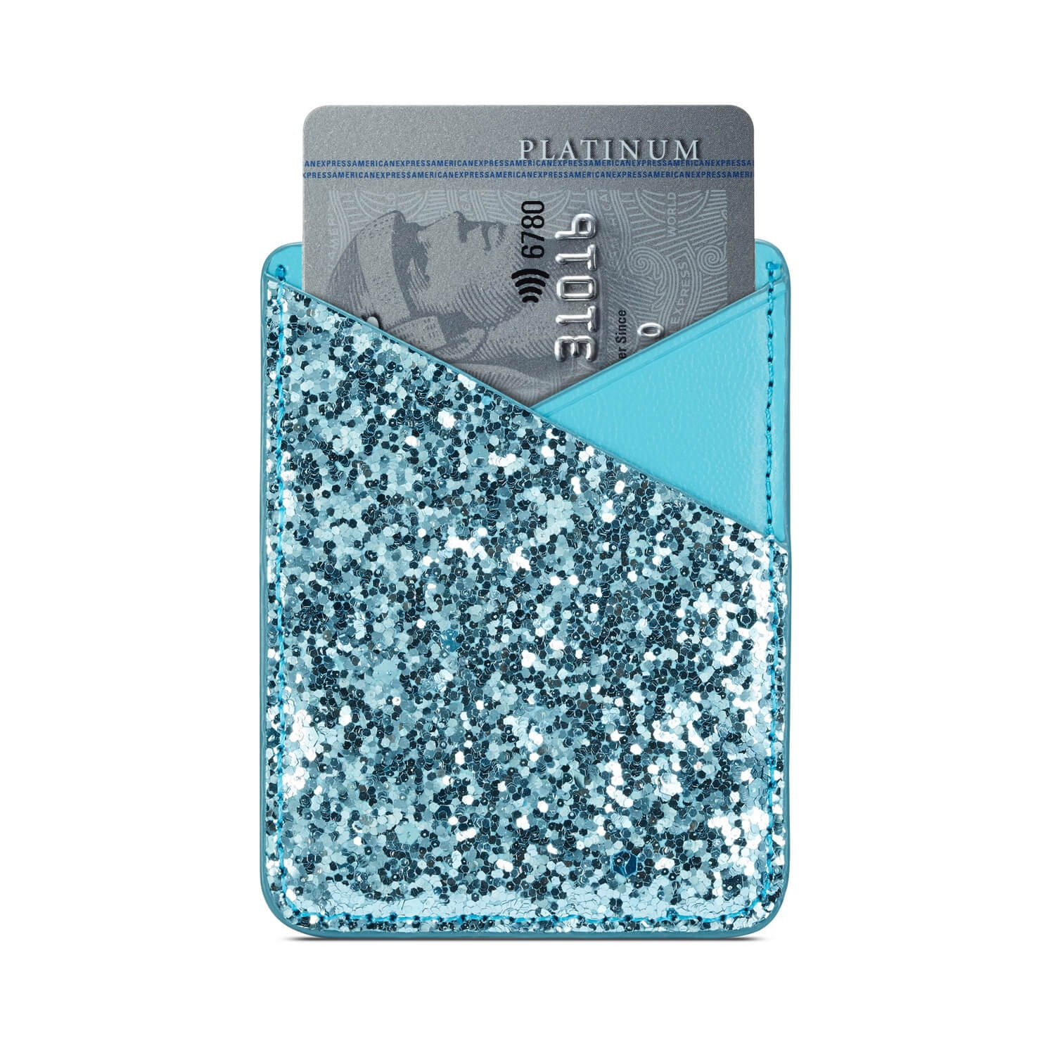 Phone Card Holder Adhesive Stick-on Credit Card Pu Leather Wallet Card Holder Back Phone case Pouch Sleeve Pocket Most Smartphones iPhone/Android /Samsung Galaxy(Rose-Gold-Blue) by Aroko (Image #9)