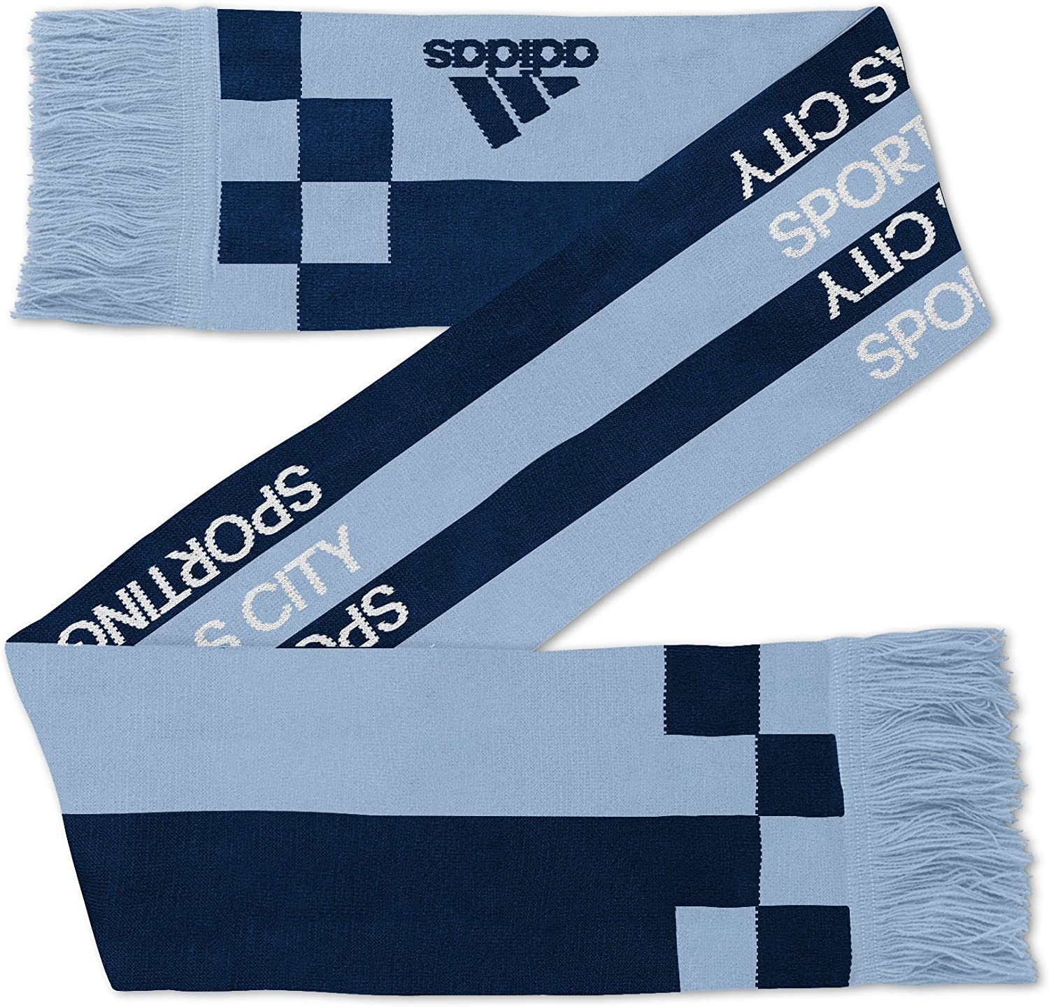 Team Color Youth One Size MLS Kansas City Sporting Youth Outerstuff Fan Stripe Scarf