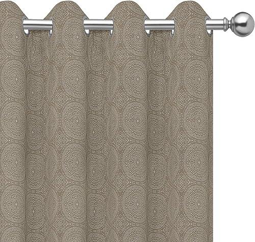 Cheap PureFit Jacquard Blackout Curtains window curtain panel for sale
