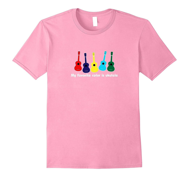 My Favorite Color is Ukulele Happy Funny Rainbow Uke Shirt-Vaci