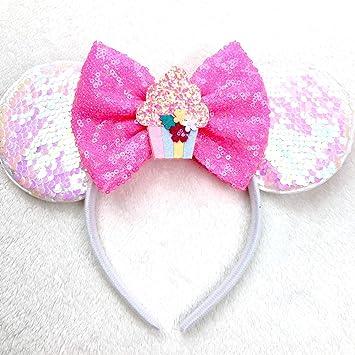 Sequin Bow Sparkle Headband Blush