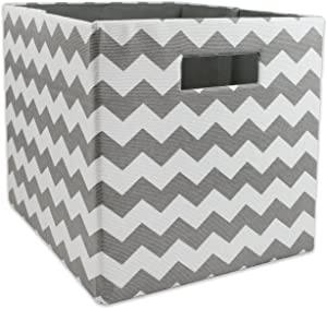 DII Hard Sided Collapsible Fabric Storage Container for Nursery, Offices, & Home Organization, (11x11x11