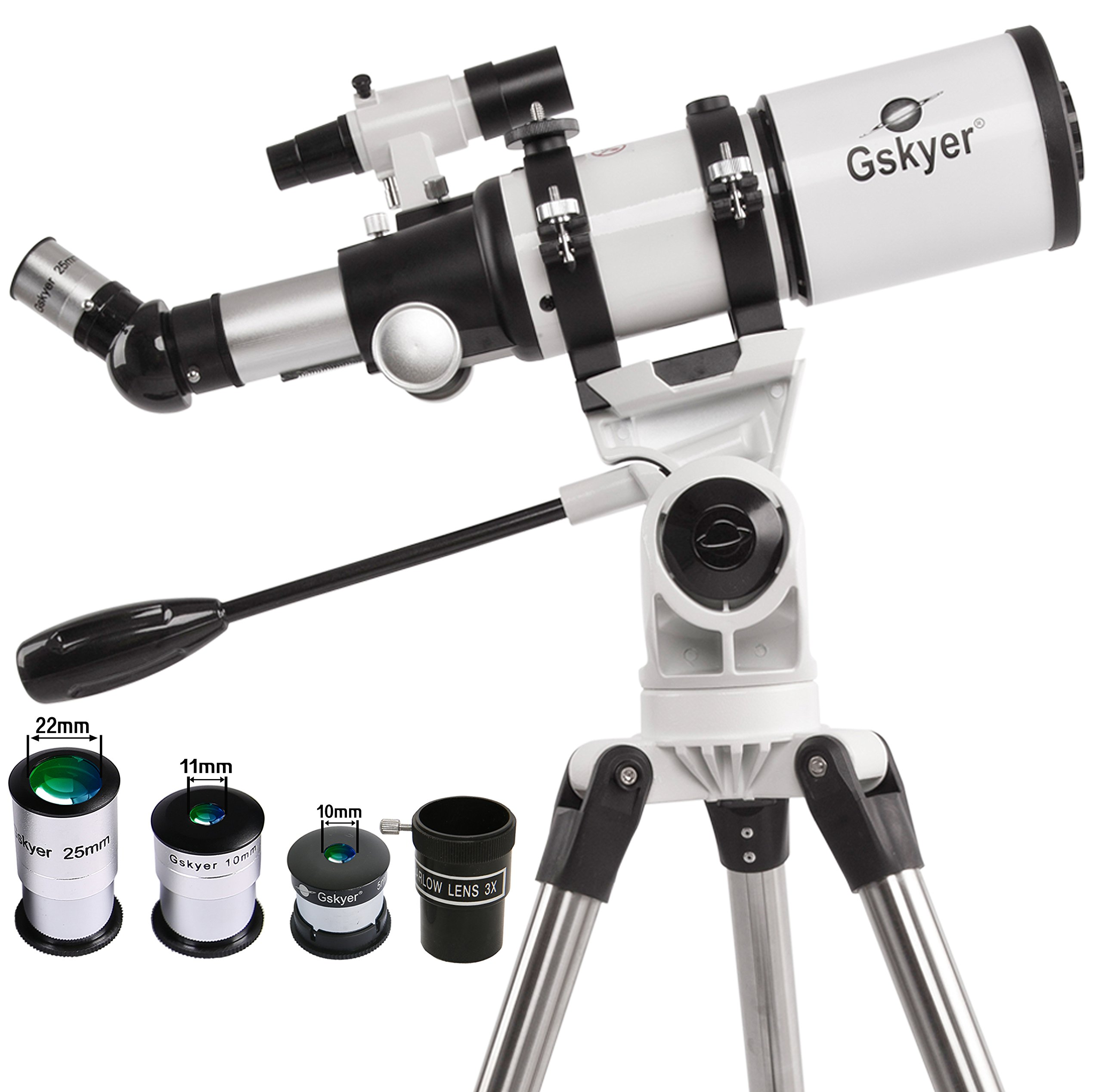 Gskyer Space Astronomical Refractor Telescope 400X80Mm Dual-Speed Slow Motion 18