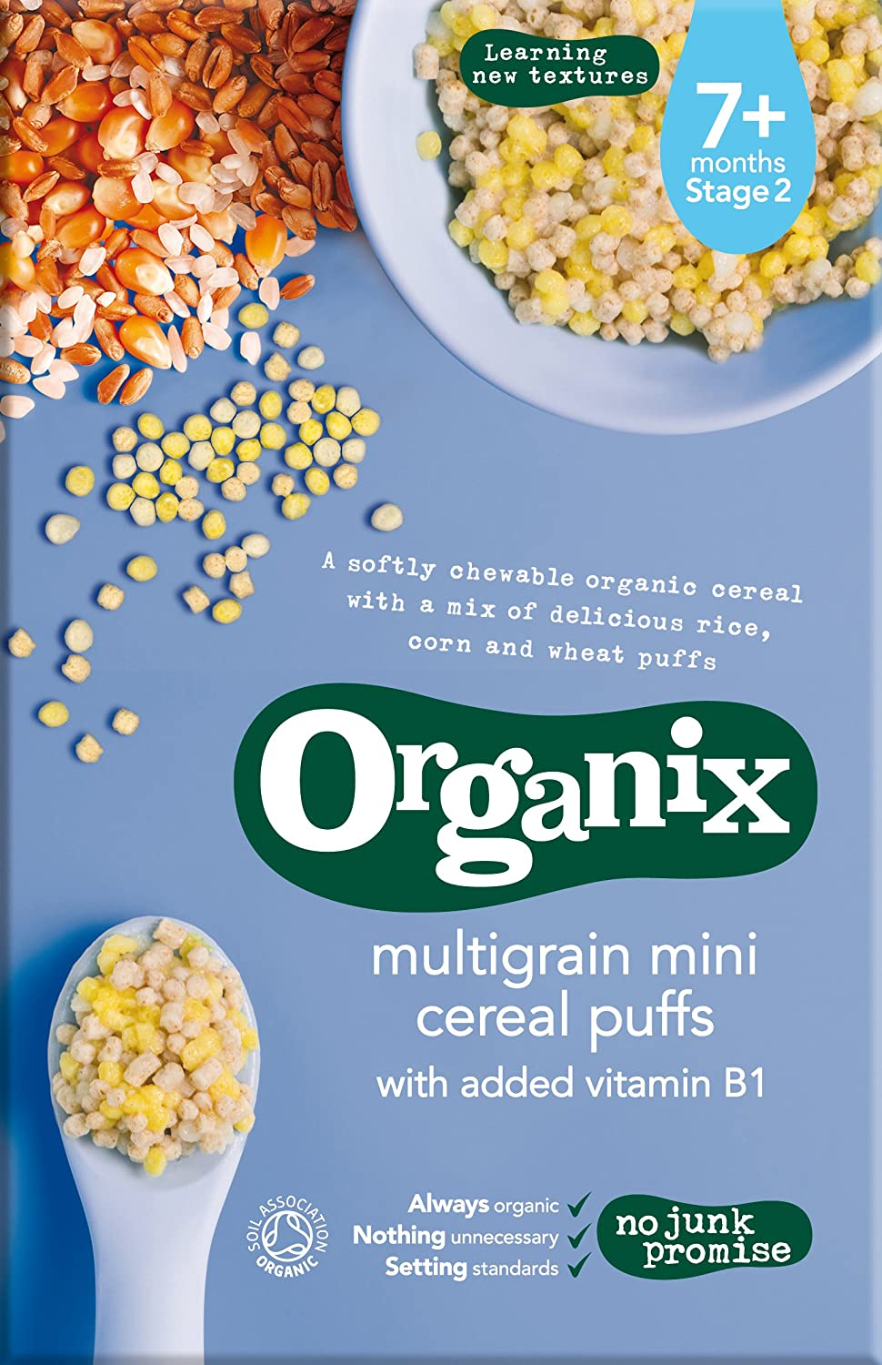 Organix Organic Multi-Grain Mini Cereal Puffs, 90g 77822