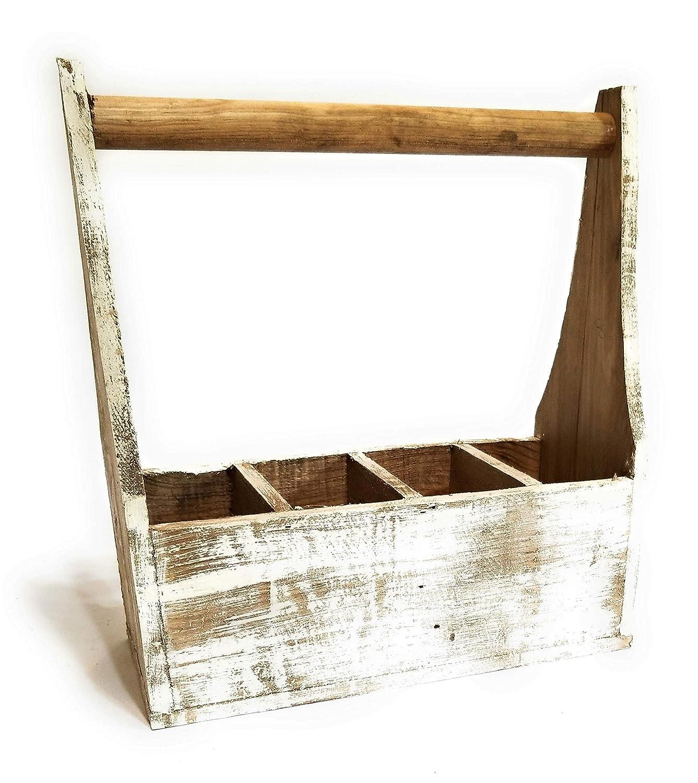 Farmhouse Rustic White Wood Decorative Box Tool Box Farmhouse Box Decor The Rustic Tool Box Handmade