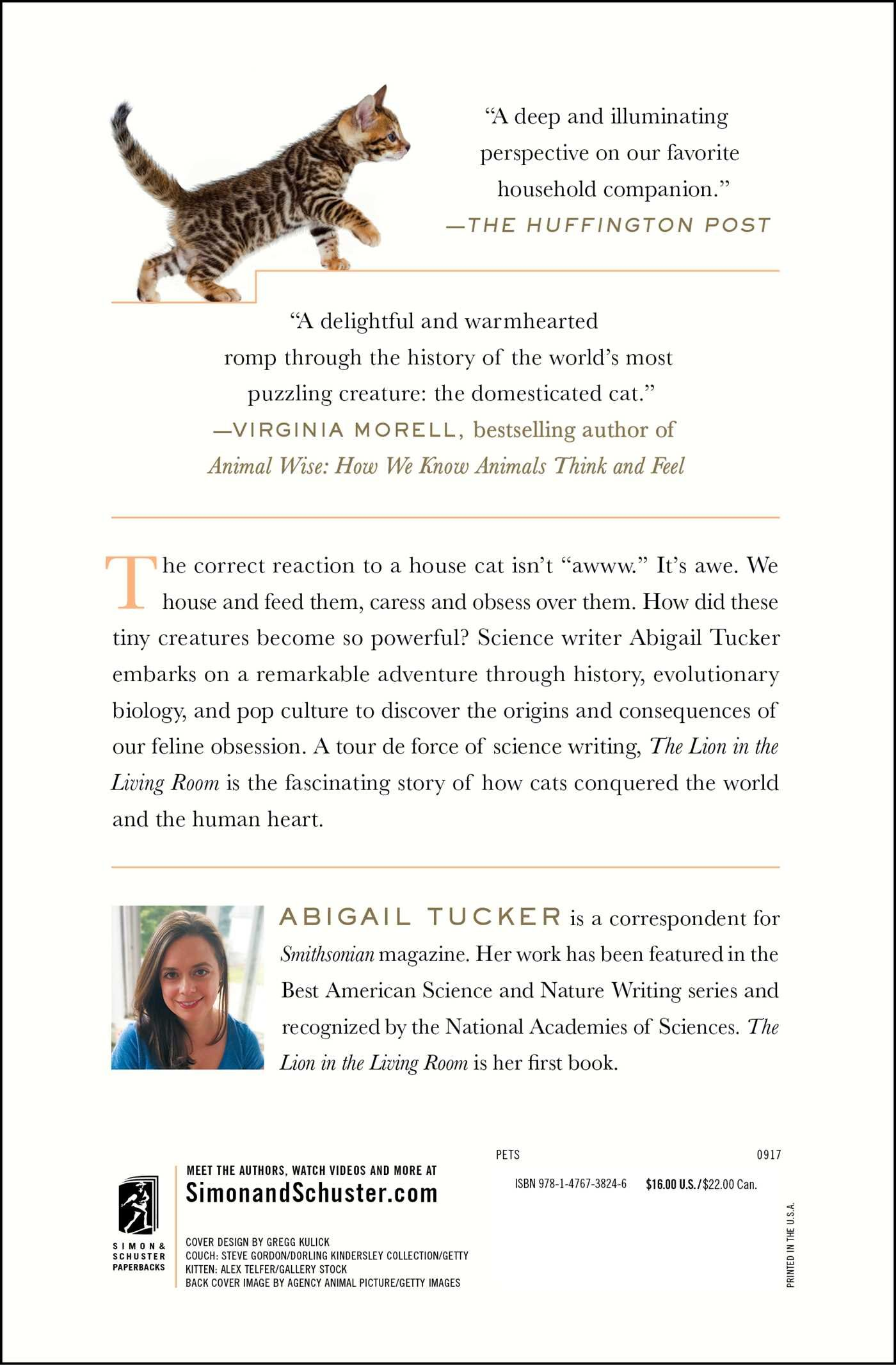 The Lion In The Living Room: How House Cats Tamed Us And Took Over The  World: Abigail Tucker: 9781476738246: Amazon.com: Books Part 6