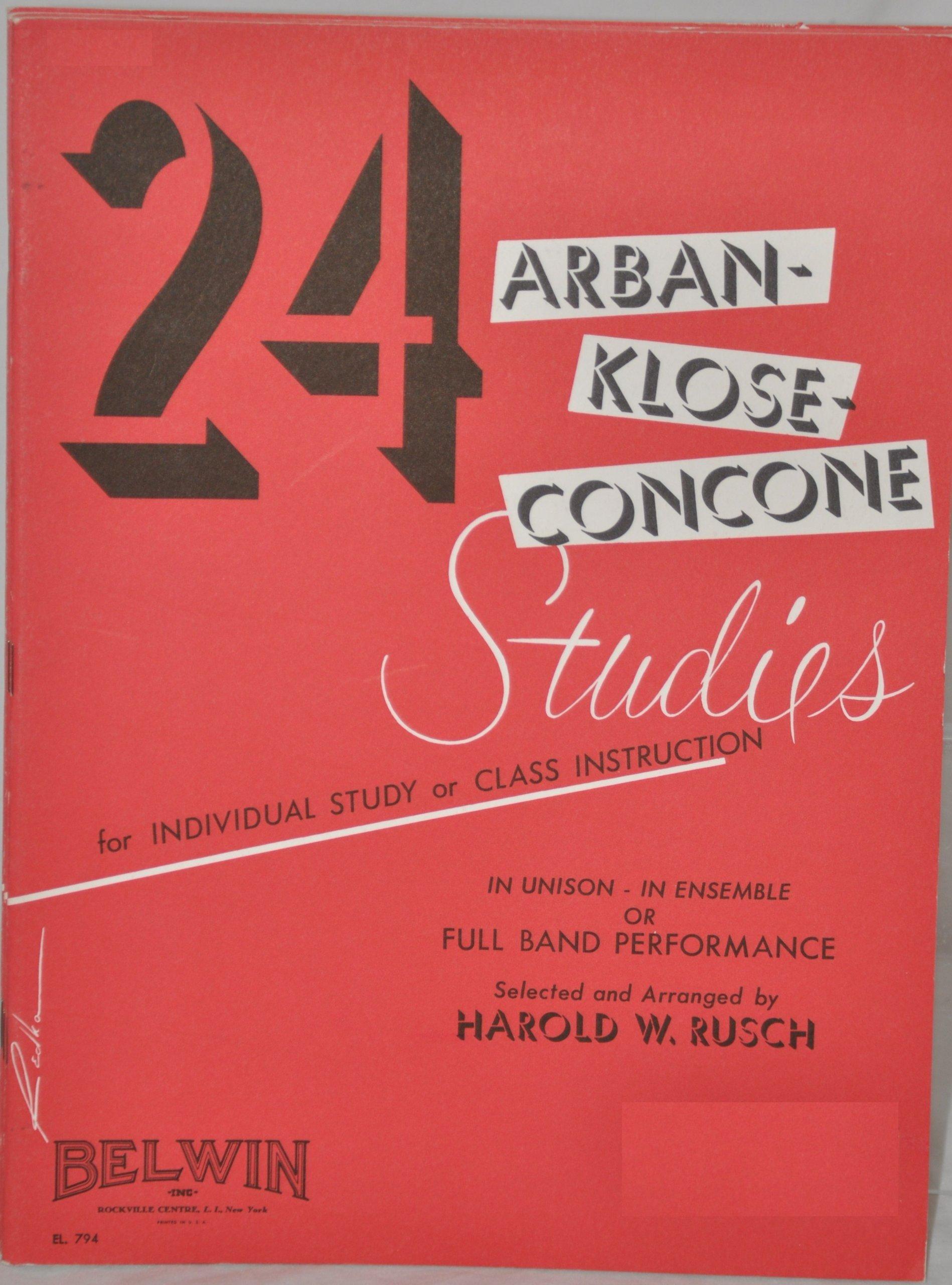 Amazon harold w rusch books biography blog audiobooks 24 arban klose concone studies e flat alto saxophone fandeluxe Image collections